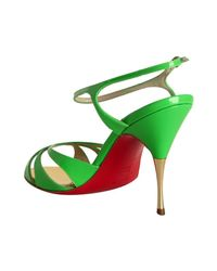 Christian Louboutin | Lime Green Patent Leather Noeudette Sandals | Lyst