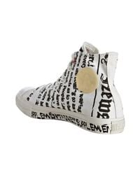 Converse - White Printed Canvas Hi-top Sneakers - Lyst