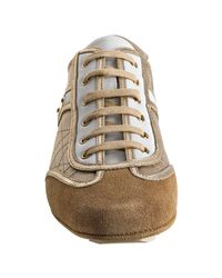 Dior | Natural Beige Run Lace Up Sneakers | Lyst