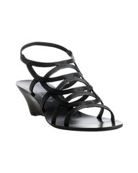 Elie Tahari | Black Leather Casey Wedges | Lyst