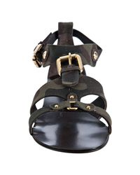 Giuseppe Zanotti - Army Green Camouflage Canvas Buckle Sandals - Lyst