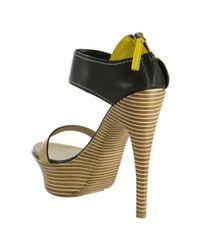 Giuseppe Zanotti - Natural Leather Back Zip Platform Sandals - Lyst