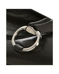 Gucci - Black Leather Bamboo Horsebit Ballerina Flats - Lyst