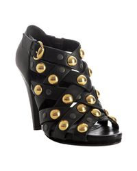 Gucci | Black Studded Crisscross Babouska Sandals | Lyst