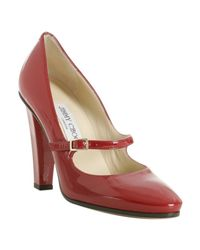 Jimmy Choo | Red Patent Leather Kindlepa Mary Jane Pumps | Lyst