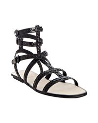 Kors by Michael Kors | Black Studded Patent Yes Gladiator Sandals | Lyst