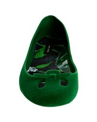 Marc By Marc Jacobs | Green Emerald Flocked Jelly Flats | Lyst