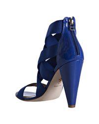 Pour La Victoire - Blue Cobalt Banded Caitlin Strappy Sandals - Lyst
