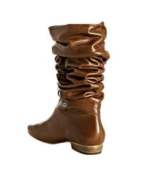 Pour La Victoire | Brown Chocolate Leather Malorie Flat Boots | Lyst