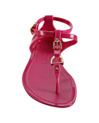 Ralph Lauren Collection   Pink Fuchsia Karly Jelly Thong Sandals   Lyst