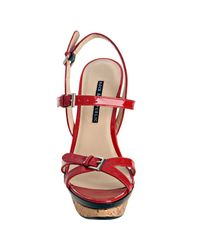 Rock & Republic | Red Patent Marlow Wedge Sandals | Lyst