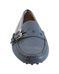 Tod's | Light Blue Leather Gommini Marte Driving Loafers | Lyst