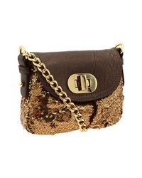 Badgley Mischka | Metallic Little Connie Sequins Mini Bag | Lyst