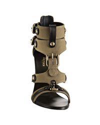 Balmain | Khaki Green Canvas Legion Gladiator Sandals | Lyst