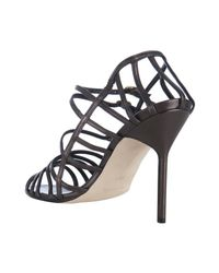 Manolo Blahnik - Brown Coffee Leather Amacha Strappy Sandals - Lyst