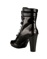 Tod's | Black Leather Asp Lace-up Boots | Lyst