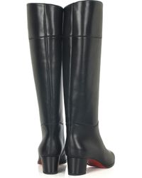 Christian Louboutin - Black Tuba 50 Leather Boots - Lyst