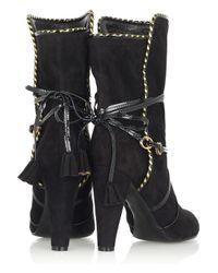 Marc Jacobs - Black Tassel-detail Suede Boots - Lyst