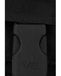 Y-3 | Black Canvas Messenger Bag | Lyst