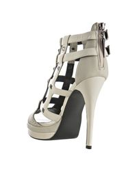 Rock & Republic - White Ivory Patent Syler Studded Cage Sandals - Lyst