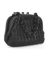 Thomas Wylde - Black Menace Skull-stud Leather Bag - Lyst