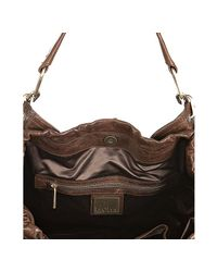 Kooba - Brown Leather Jagger Zip Expandable Shoulder Tote - Lyst