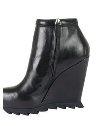 Camilla Skovgaard - Black Saw Wedge Ankle Boot - Lyst