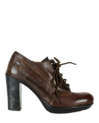 Collection Privée | Brown High Heel Lace-up Shoes | Lyst