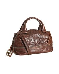 Kooba | Brown Bourbon Leather Hadley Convertible Satchel | Lyst