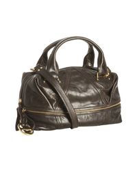 Kooba | Brown Lava Leather Hadley Convertible Satchel | Lyst