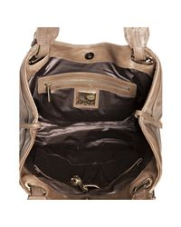 Kooba - Brown Mocha Leather Lindsey Seamed Tote Bag - Lyst
