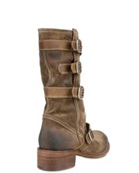 Strategia - Brown Suede Buckles Boots - Lyst