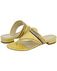 A.Testoni | Yellow Sandal | Lyst