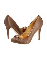 Badgley Mischka | Metallic Opel Pumps with Embellished Bow | Lyst