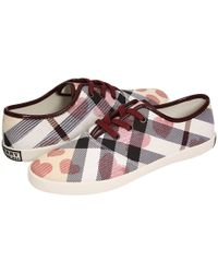 Burberry | Purple Nova Heart Sneakers | Lyst
