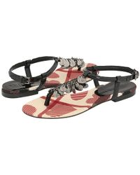 Burberry | Black Nova Heart Sandals | Lyst