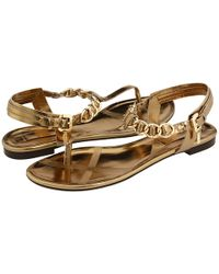 Burberry | Metallic Perspex T-bar Sandal | Lyst