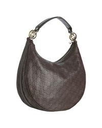 Gucci | Brown Chocolate Ssima Gg Twins Medium Hobo | Lyst