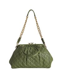 Marc Jacobs - Green Olive Quilted Leather Stam Handbag - Lyst