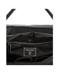 Prada - Black Nylon and Nappa Leather Pattina Sottospalla Bag - Lyst