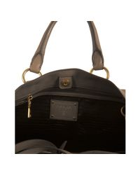 Prada - Brown Mink Deerskin Leather Zip Detail Tote - Lyst