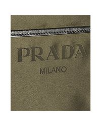 Prada | Green Mimetic Nylon Logo Jacquard Zip Messenger Bag | Lyst