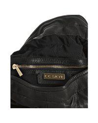 CC SKYE - Black Leather Ferris Studded Bucket Hobo - Lyst