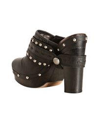 Vince Camuto - Black Leather Christies Harness Platform Clogs - Lyst