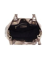 See By Chloé - Backstage - Small Python Embossed Metallic Leather Tote - Lyst