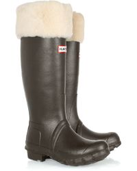 HUNTER | Natural Berkley Tall Wellington Boots | Lyst