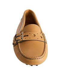 Tod's | Brown Tan Leather Gommini Marte Driving Loafers | Lyst