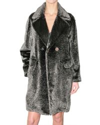 See By Chloé | Gray Astrakhan Fur Coat | Lyst