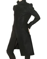 Todd Lynn - Black Wool Felt Coat - Lyst