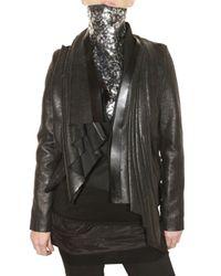 Trosman | Black Waxed Wool Cloth Jacket | Lyst